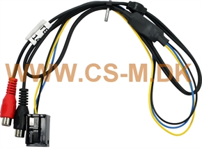 AUX-In-interface BMW I-bus med Quadlock, 12 pin Quad, AUX